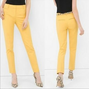 WHBM Yellow Slim Ankle Pants 8
